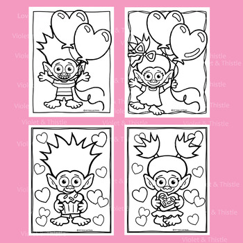 Valentine Troll Mailing Mailbox Coloring Book Pages Color Page