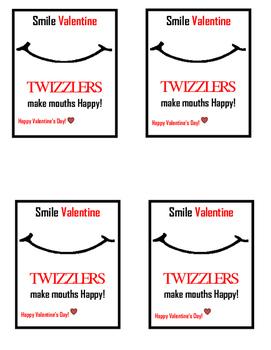Valentine Twizler tag