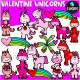 Valentine Unicorns Big Bundle {Educlips Clipart}