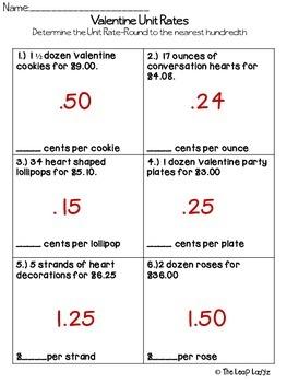 Valentine Unit Rates