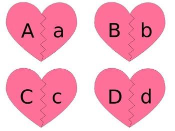 Valentine Upper Lower Case ABC Match