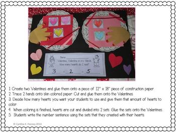 Valentine, Valentine in My Hands, How Many Hearts Do I see? Math Freebie