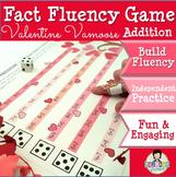 Addition Math Fact Fluency Game Valentine