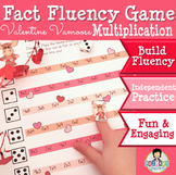 Multiplication Math Fact Fluency Game Valentine