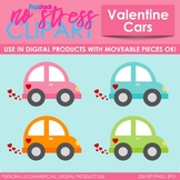 Valentine Vehicles Clip Art (Digital Use Ok!)