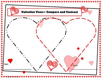 Valentine Venn - Compare and Contrast