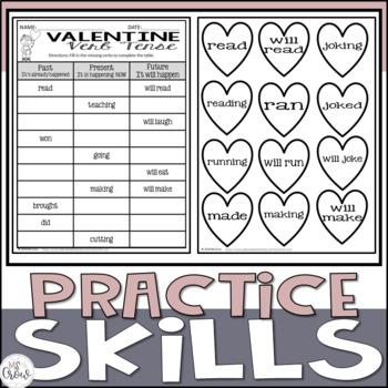 Valentine Craftivity Verb Tense