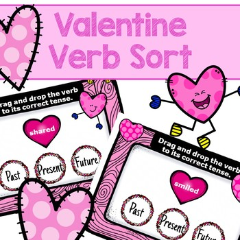 Valentine Verb Tense Sort BOOM Cards
