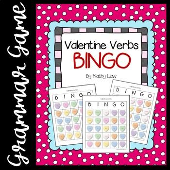 Valentine Verbs BINGO