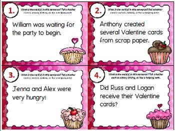Valentine Verbs SCOOT (Action, Linking, Helping)