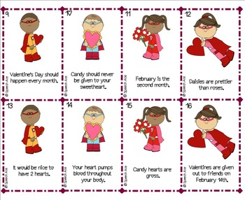 Valentine Victory: a Facts and Opinions Game FREEBIE