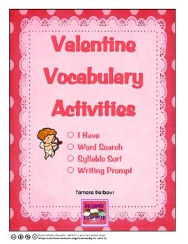 Valentine Vocabulary Activities