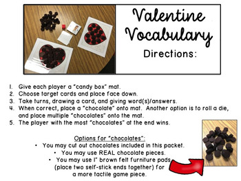 Valentine Vocabulary Game