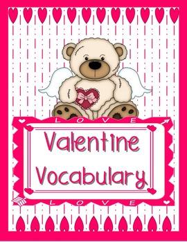Valentine Vocabulary Memory Cards Game