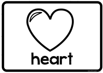 Valentine Vocabulary Word Wall Cards - BUNDLE