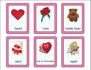 Valentine Vocabulary Cards