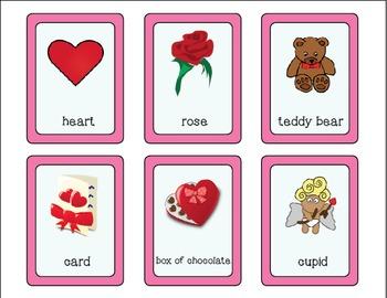 Valentine Vocabulary Cards