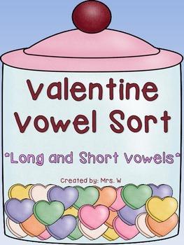 Valentine Vowel Sort - Literacy Center