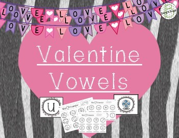 Vowels Game (Differentiated Cards) {Valentines Day}