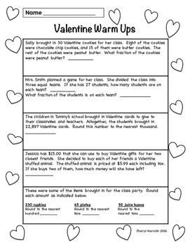 Valentine Warm Ups