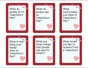Valentine Wh Question Task Cards - Kindergarten {common core aligned}