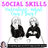 Valentines Day Appropriate Social Language for speech therapy