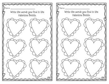 Valentine Word Bottle FREEBIE