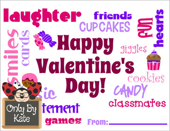 Valentine Word Clouds, Valentine's Day Cards, Print Your Own