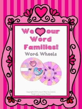 Valentine Word Family Wheels