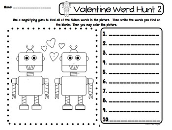 Valentine's Day Sight Word Hunt #kinderfriends