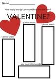 Valentine Word Making