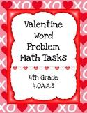 Valentine Word Problem Math Tasks