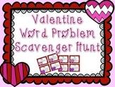 Valentine Word Problem Scavenger Hunt / Task Cards