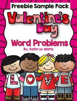 Valentine's Day Word Problems (Freebie)