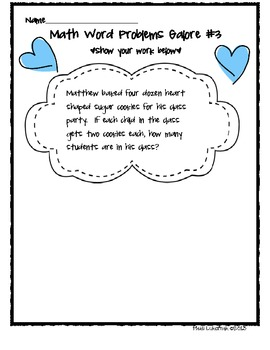 Valentine Word Problems From The Heart