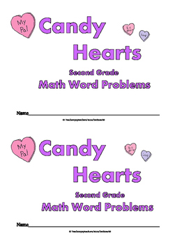 Valentine Word Problems:  Mini Book: Second Grade