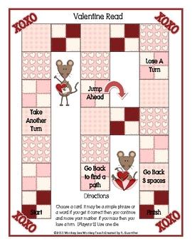 Valentine Word Reader Game