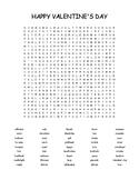 Valentine - Word Search - 45 words - challenging