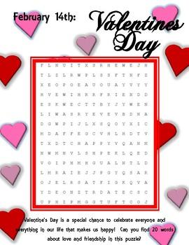 Valentine Word Search - Intermediate