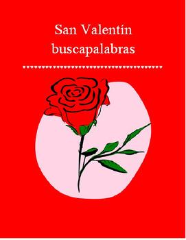 Valentine Word Search SPANISH