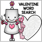 Valentine Word Search for Second Grade