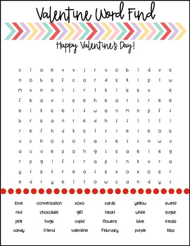 Valentine Word Search for your Students! FREEBIE!!