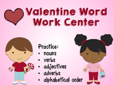 Valentine Word Work Center: Parts of Speech/ABC Order