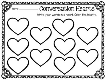 Valentine Word Work FREEBIE!