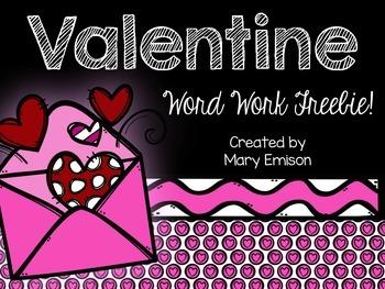 Valentine Word Work FREEBIE!