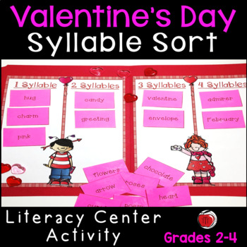 Valentine Words Syllable Sort