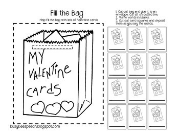 Valentine Worksheet & HW Pack for Speech Therapy