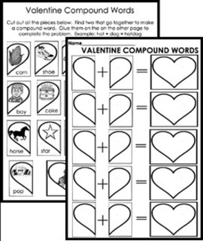 Valentine Worksheet Pages - 6 different pages