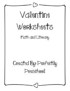 Valentine Worksheets Bundle