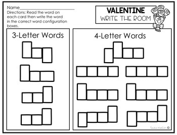 Valentine's Write the Room